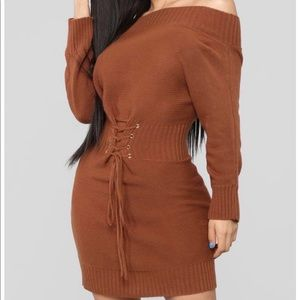 Brown dress from Fashion Nova